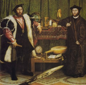 """The Ambassadors"", Holbein 1533"