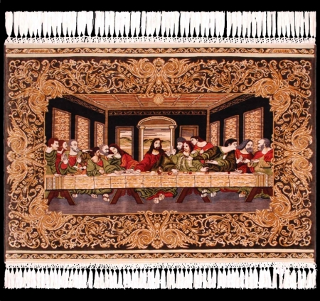 "Hereke silken Carpet - ""The Last Supper"""
